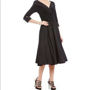 Portrait Collar Midi Dress